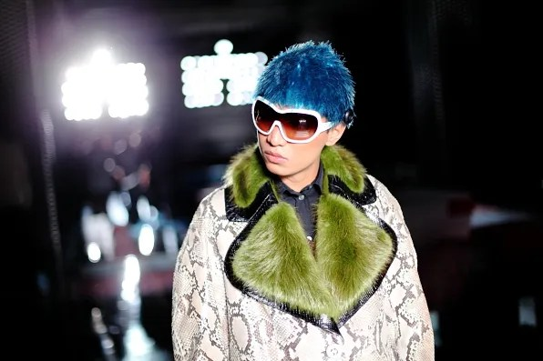 Bryanboy wearing looks from Prada fall winter 2011 womenswear collection