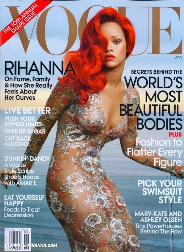 Rihanna Vogue USA Cover April 2011 Issue shot by Annie Leibovitz