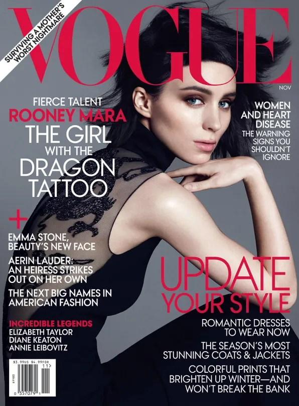 Rooney Mara Vogue Cover (USA) November 2011