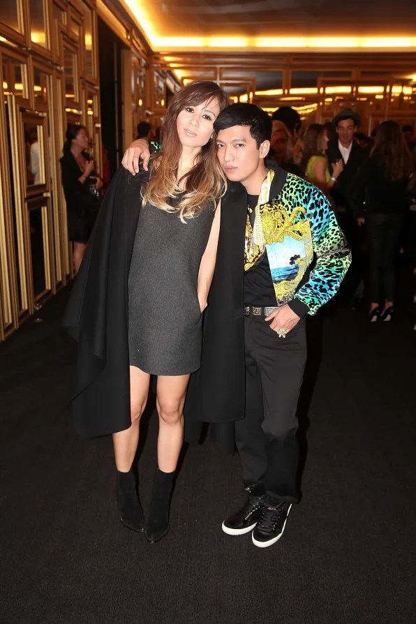 Rumi Neely and Bryanboy at Versace for H&M launch event
