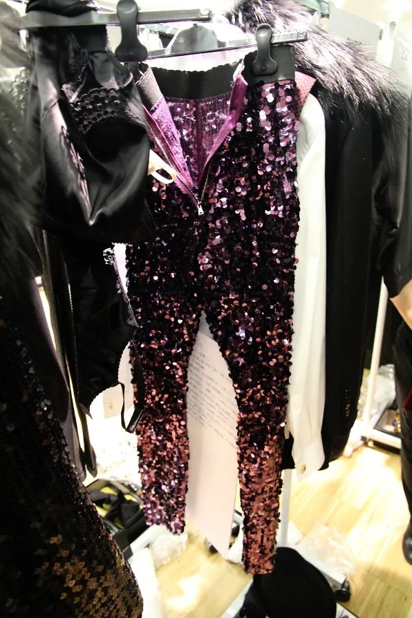 Purple Dolce & Gabbana sequined leggings from fall/winter 2011 collection