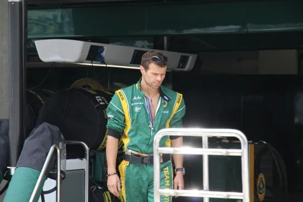 A mechanic at Formula 1 Shanghai