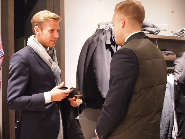 Hot guy at Hugo Boss Stockholm store opening
