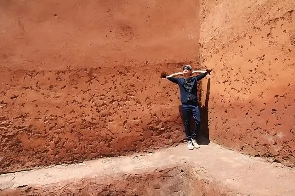 Bryanboy, Terracotta wall in Marrakesh