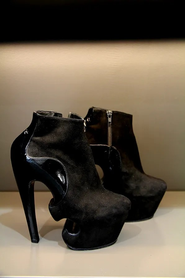 Thierry Mugler shoes (two-tone black)