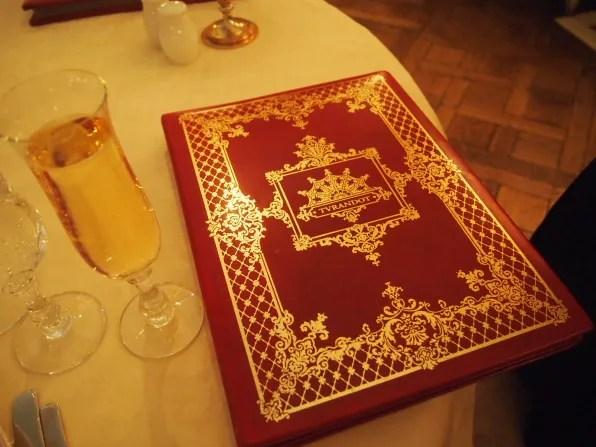 Turandot Restaurant Moscow menu