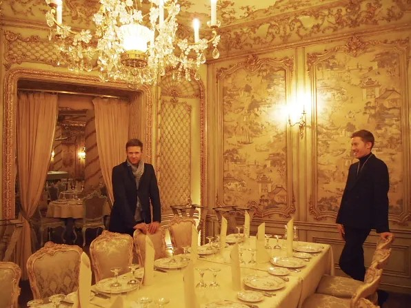 Keith and Patrick at a private dining room