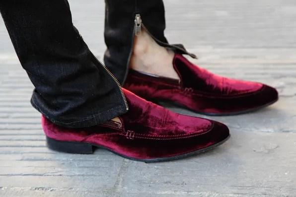 Kurt Geiger velvet shoes