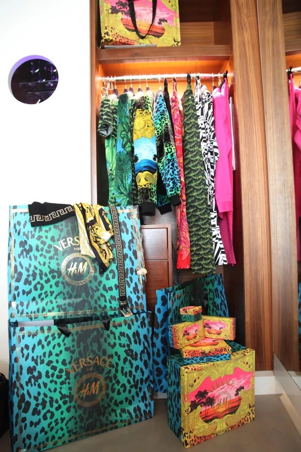 Bryanboy's Versace x H&M collection inside the closet