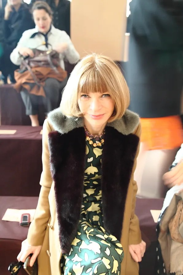 Anna Wintour at Marni fall/winter 2012