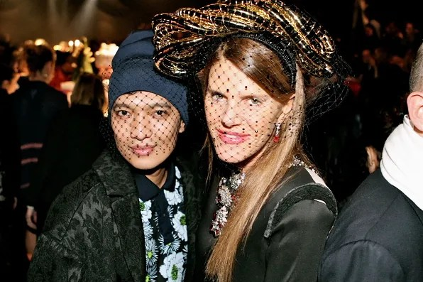 Bryanboy and Anna dello Russo at Lanvin fall/winter 2012