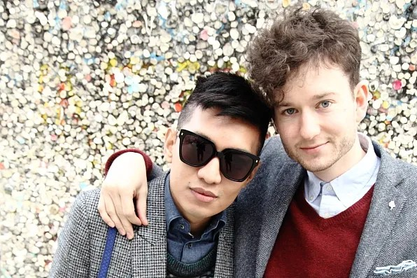 Bryanboy and Isaac Hindin-Miller in Berlin