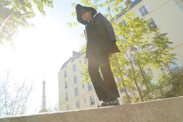 Bryanboy wearing Costume National in Paris