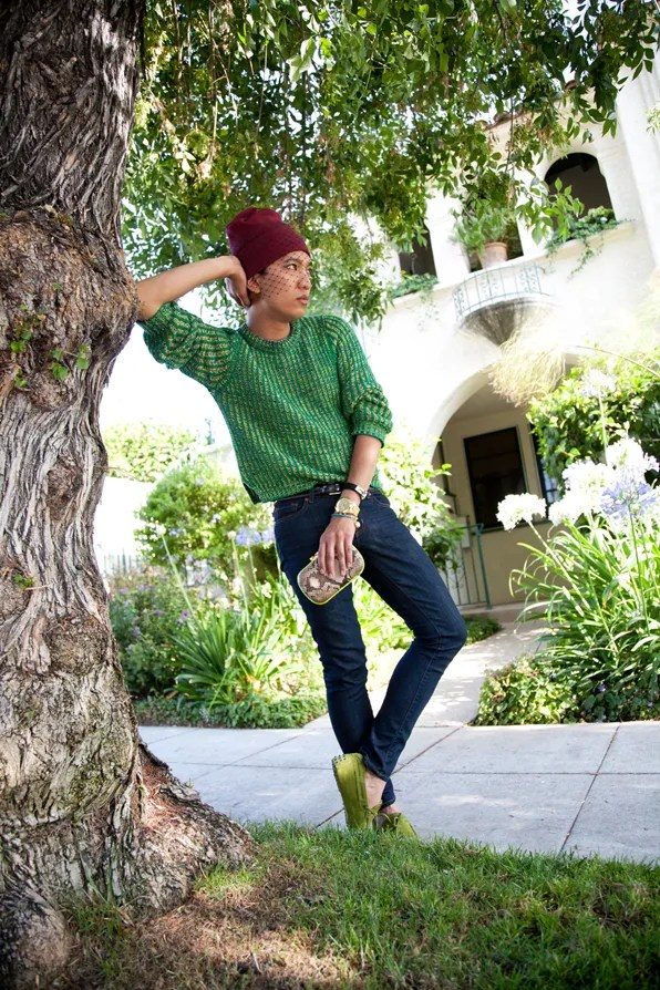 Bryanboy wearing Tod's loafers in Los Angeles