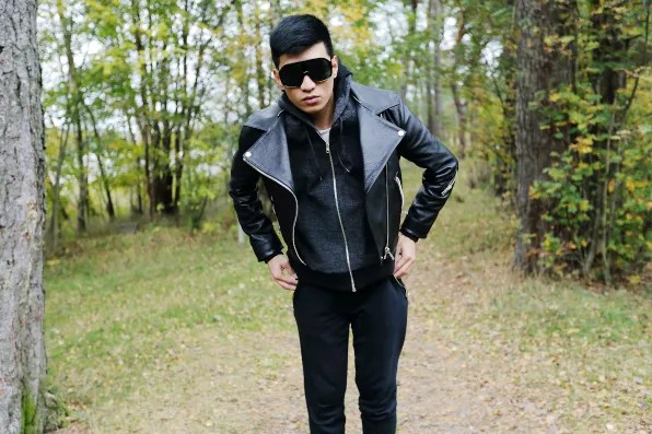 Bryanboy's sporty casual urban look