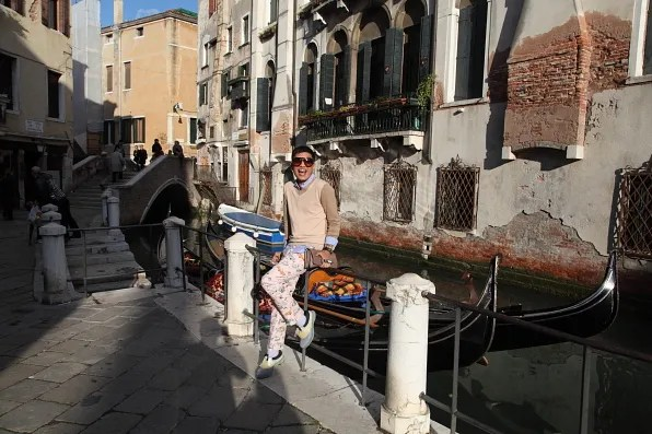 Bryanboy laughing in Venice