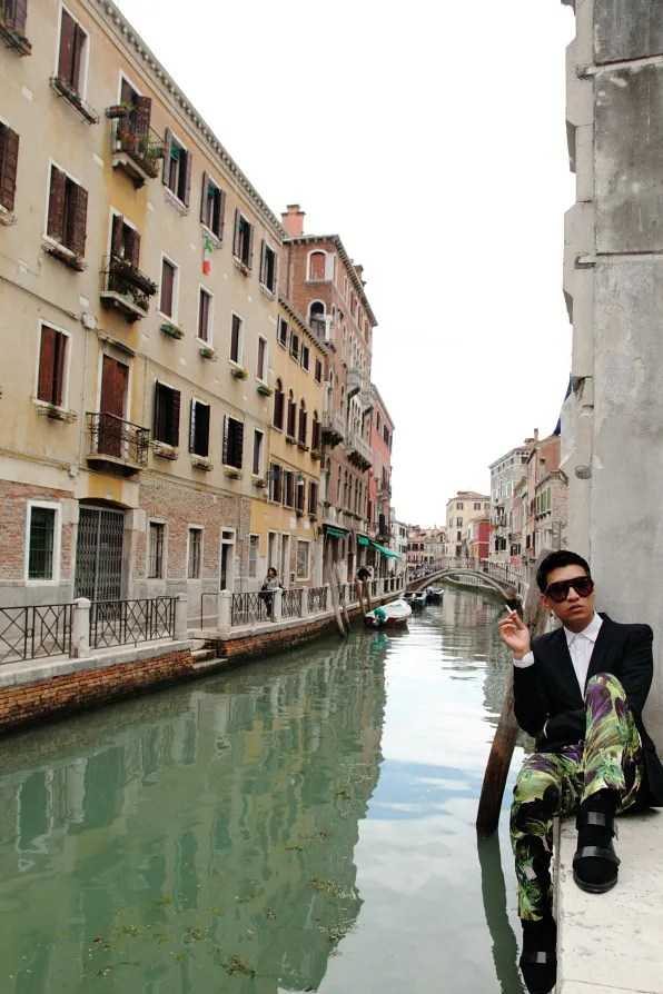 Bryanboy at Sestiere Santa Croce, Venice, Italy