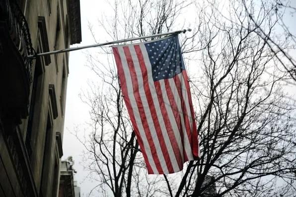 American flag on Park Avenue, New York City