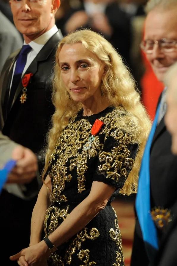 Franca Sozzani in Dolce & Gabbana dress