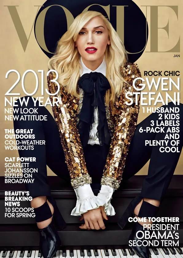 Gwen Stefani for Vogue USA January 2013 issue cover