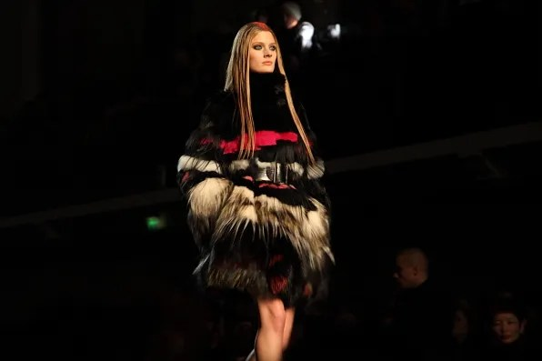 Constance Jablonski at Jean Paul Gaultier Fall Winter 2012 fashion show