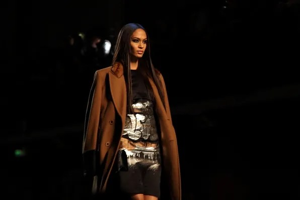 Joan Smalls at Jean Paul Gaultier Fall Winter 2012 fashion show