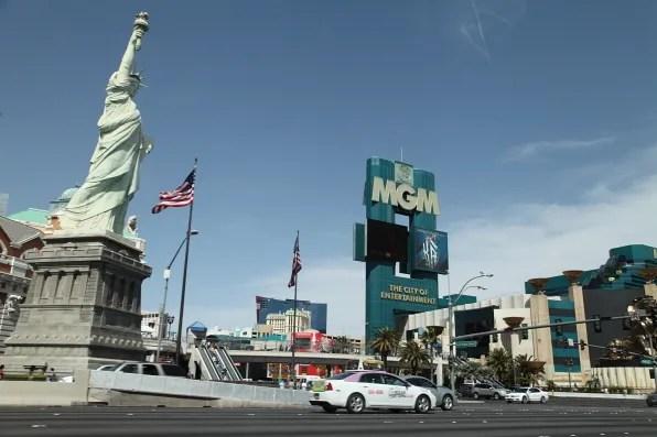 MGM Las Vegas corner