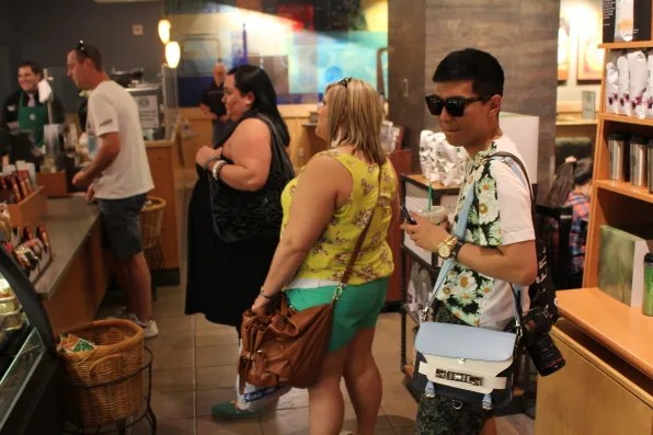 Bryanboy in Starbucks at Luxor, Las Vegas