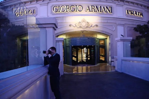 Gucci, Giorgio Armani and Prada at Bellagio Las Vegas