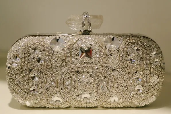 Marchesa swarovski crystal clutch bag