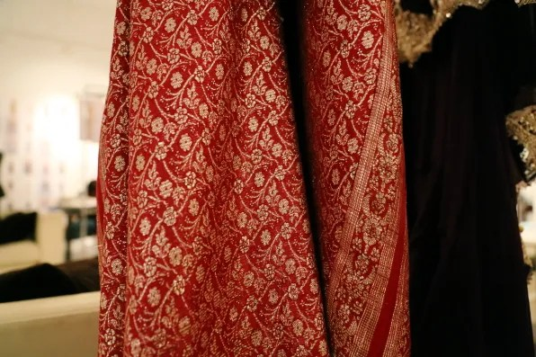 Indian bridal fabric for Marchesa