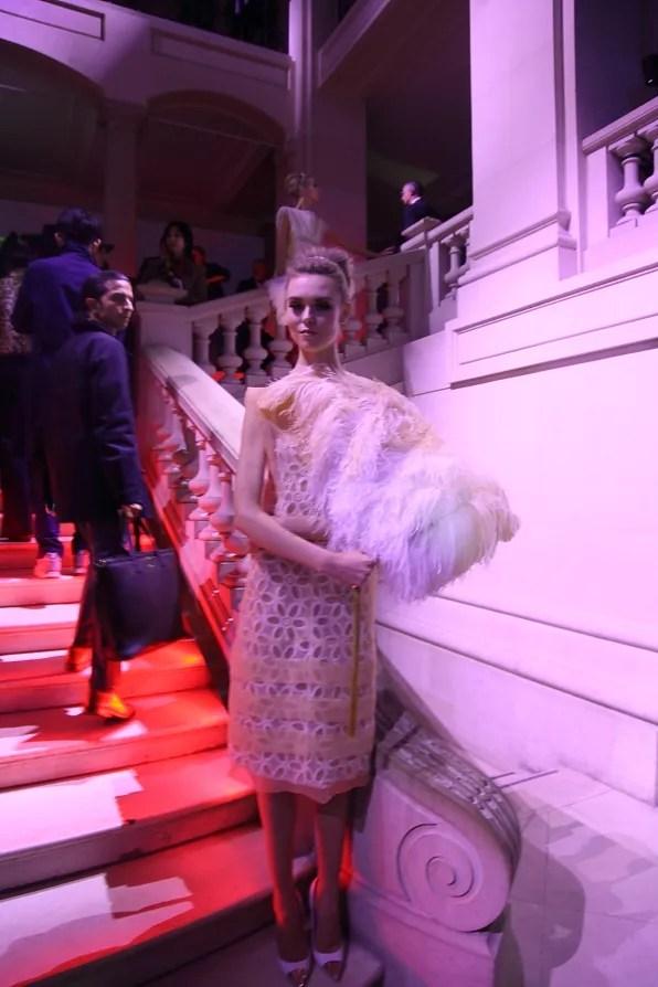 Usherette wearing a spring summer 2012 Louis Vuitton dress