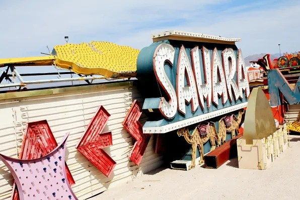 Sahara sign at Neon Museum Las Vegas
