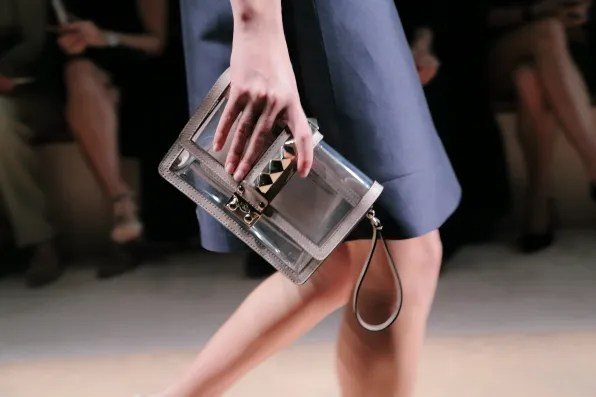 Transparent Valentino clutch bag from spring/summer 2013 fashion show