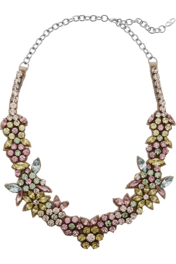 Valentino swarovski crystal necklace