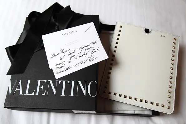 White Valentino iPad case