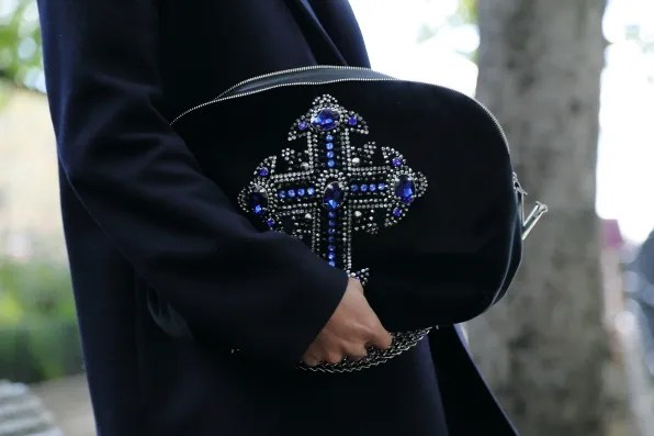 Versace embellished cross pouch from fall winter 2012 collection