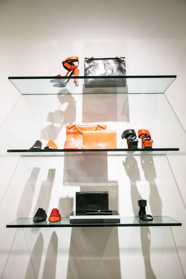 Black and red accessories from Calvin Klein Collection Resort 2014