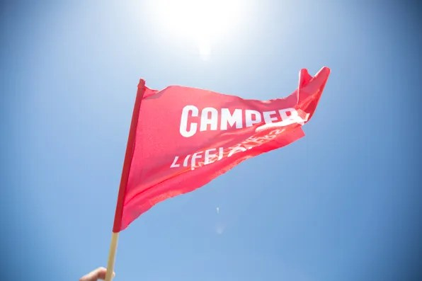 Camper Lifelovers Welcome flag