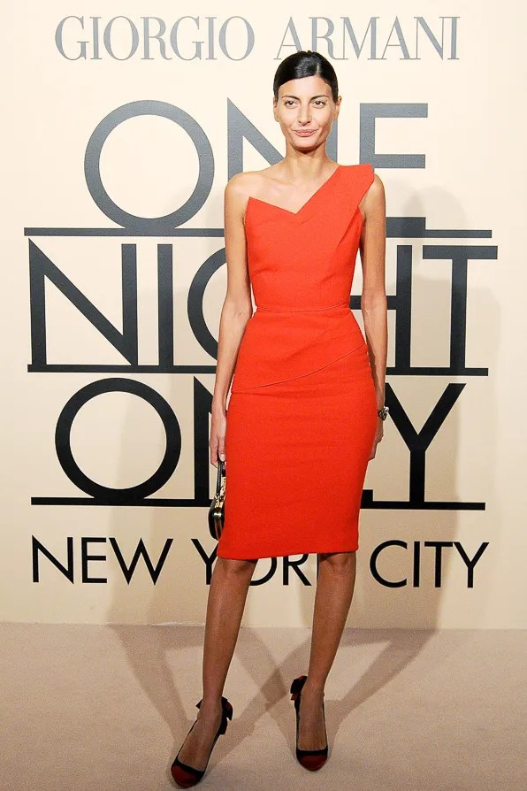 Giovanna Battaglia at the Giorgio Armani One Night Only New York event