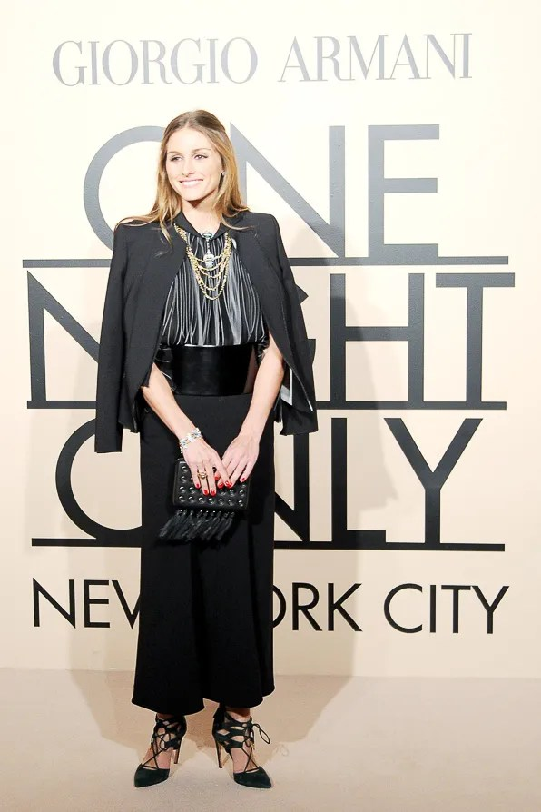 Olivia Palermo at Giorgio Armani One Night Only New York City event