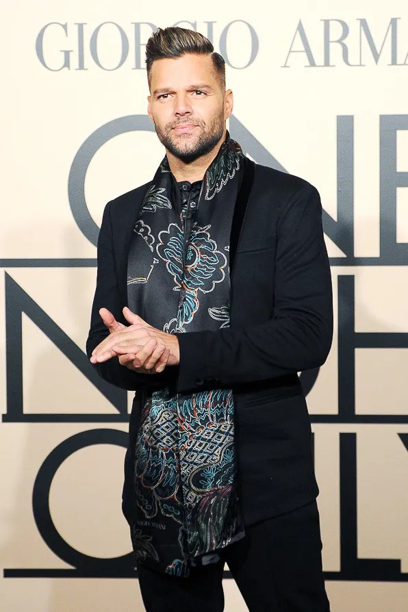Ricky Martin at Giorgio Armani One Night Only New York City event