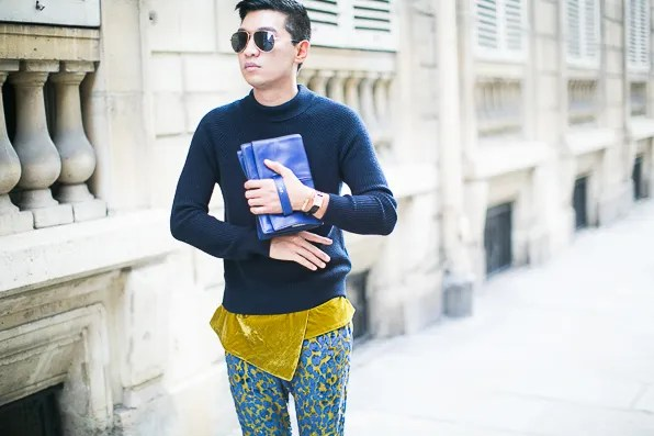 Bryanboy wears the Valentino My Own Code bag