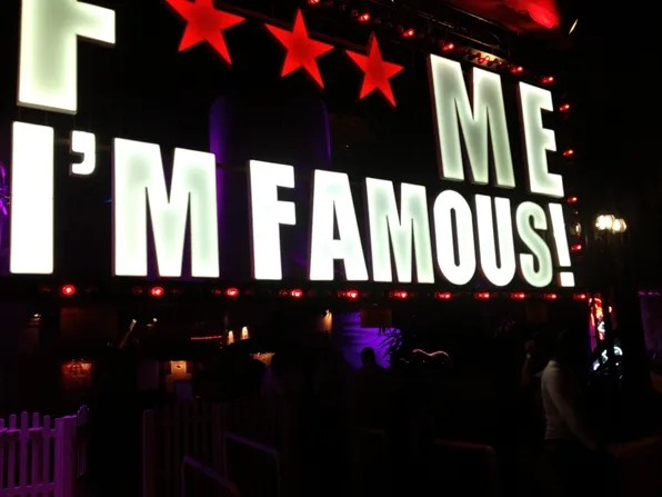 Fuck Me I'm Famous light signage outside Pacha, Ibiza