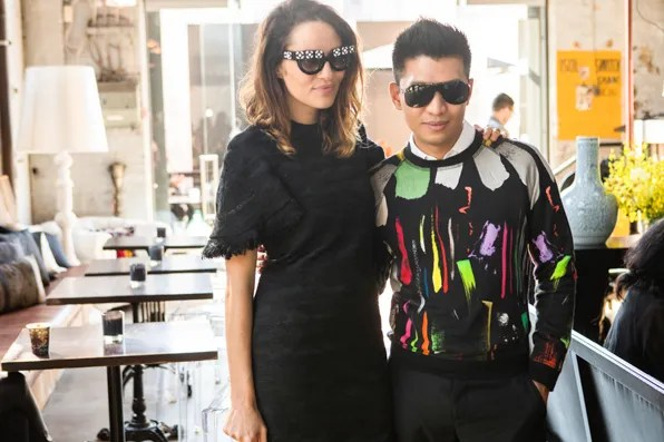 Kym Ellery and Bryanboy at Mercedes-Benz Fashion Week Australia 2013