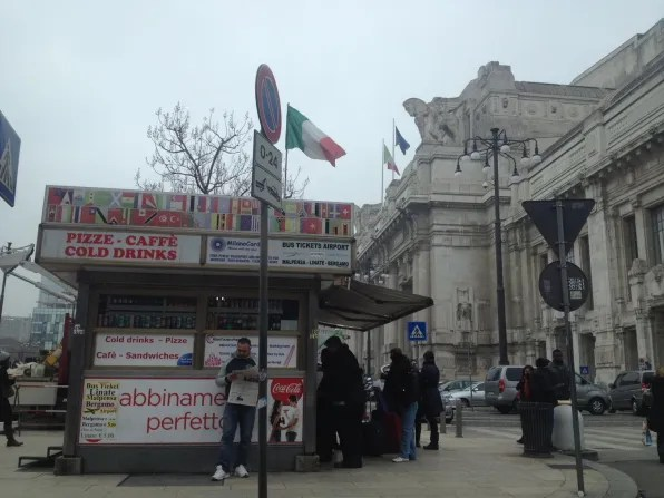 Outside Stazione Centrale Milano