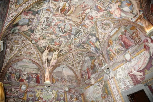 Ceiling at Palazzo Capponi, Florence