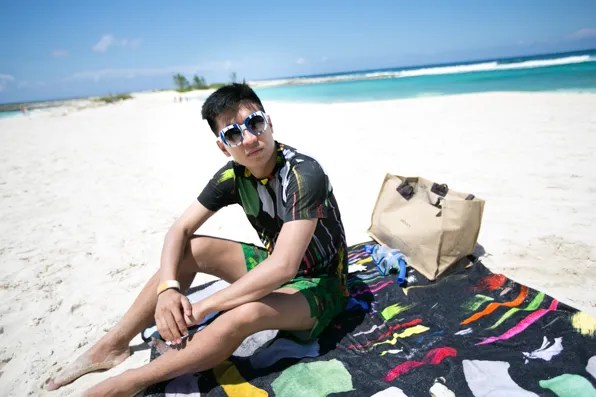Bryanboy in Christopher Kane at the Cove, Atlantis Bahamas