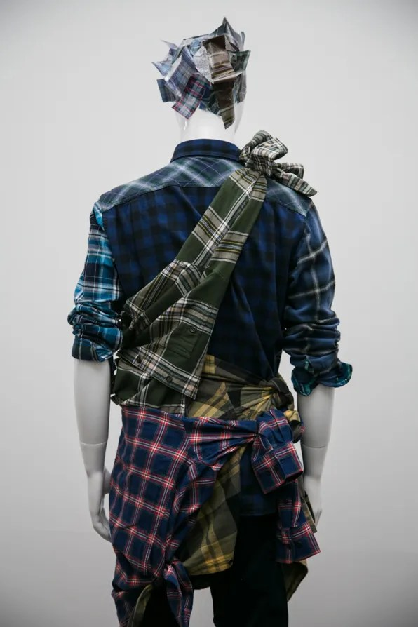 Uniqlo Lifewear Fall Winter 2013 flannel shirts back view