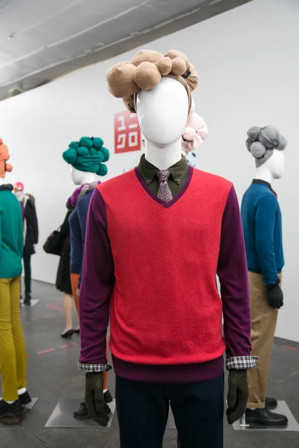 Color block Uniqlo cashmere sweaters fall winter 2013